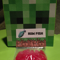 Minecraft Birthday Party Favors, Raw Fish