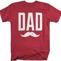 Shirts By Sarah Men's Funny Father's Day Dad Mustache T-Shirt