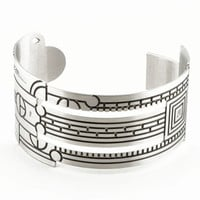 Frank Lloyd Wright Saguaro Forms and Cactus Flowers Cuff Bracelet