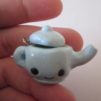 Polymer Clay Kawaii Tea Pot Charm, Kawaii Polymer Clay Charm, Teapot Charm