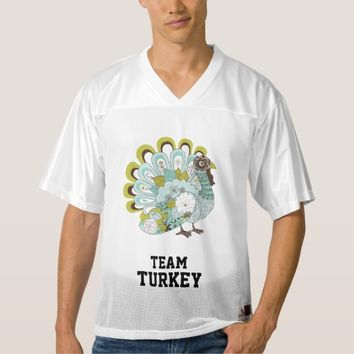 Blue & Green Turkey Football Tournament Jersey