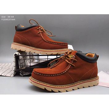 Autumn and winter new Martin boots British high to help the trend tooling boots shoes casual shoes F-A36H-MY Brown