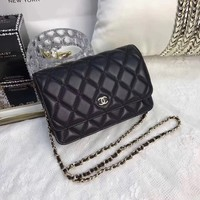 CHANEL WOMEN CLASSIC WOC LEATHER CHAIN SHOULDER BAG