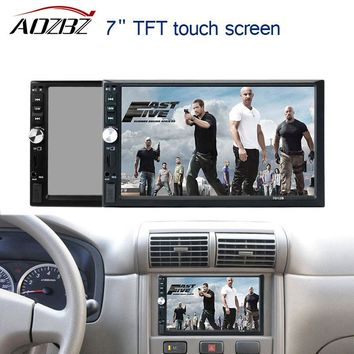 "AOZBZ 7"" TFT 1080P Electronics Video Touch Screen Bluetooth MP5 Player 12V Car Audio FM USB SD AUX IN Support Rearview Camera"