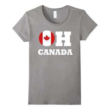 Awesome OH CANADA t-shirt - Canadian anthem true to north