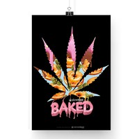 Baked Donuts and Kush Cannabis Poster 13x19""