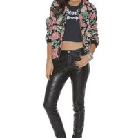Catch Up Bomber Jacket in Autumn Rose