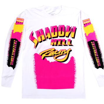 NEON RACING LONG SLEEVE TEE PNK/YELLOW
