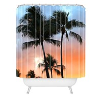 Deb Haugen sunset palm Shower Curtain