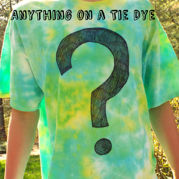 Anything on a TieDye- Custom Tie Dye Shirts- Art Tshirts- Your hobby or passion on a TieDye TShirt, made to order, zentangle, ooak shirts