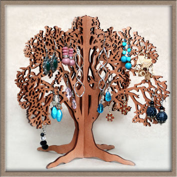 Hand made jewelry stand tree, earring tree holder