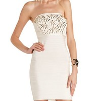 Embellished Bandage Tube Dress: Charlotte Russe
