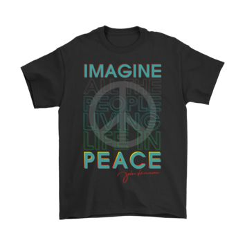 QIYIF John Lennon Imagine All The People Living Life In Peace Shirts