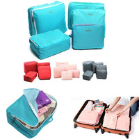 5-Piece Luggage Baggage Suitcase Packing Cube Organizer Underwear Socks Leggings T-Shirts