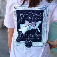 Southern As Seersucker Tee by LAUREN JAMES {Pink}