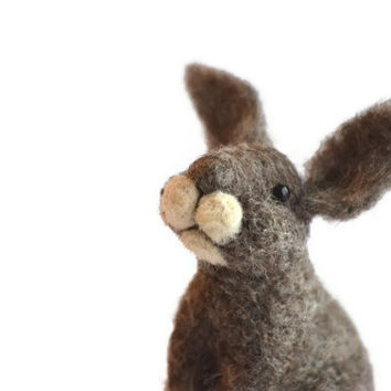 Needle Felted Bunny Rabbit - wool needle felted animals