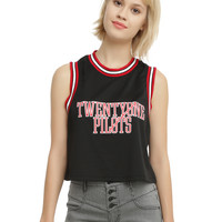 Twenty One Pilots Jersey Girls Crop Tank Top