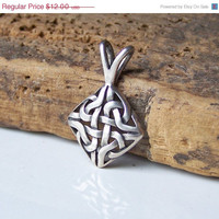 Etsy, Etsy Jewelry, Sterling Silver Celtic Knot, Celtic Knot Pendant, Sterling Silver Pendant, Diamond Shaped Pendant