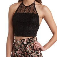 CROCHET HALTER CROP TOP
