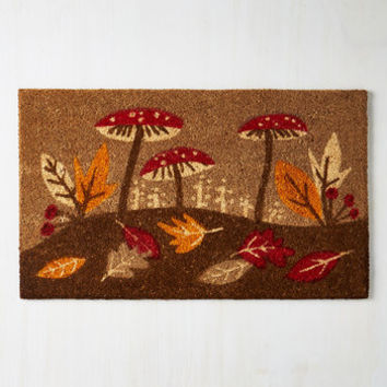 Mushrooms On Top of the Woods Doormat by ModCloth