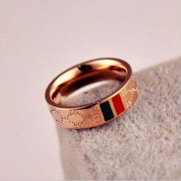 Gucci Woman Fashion Lettering Plated Ring Jewelry
