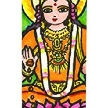 Goddess Lakshmi for Wealth & Fortune 7 Day Scented Candle with Charm Pendant and Laminated Prayer Card Gift Set