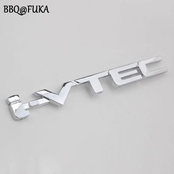 Auto Car Styling i-VTEC Decal Trunk Badge Emblem Decorative Sticker ABS Fit For IVTEC Honda Civic Accord Exterior Accessories