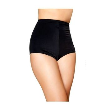 Roma Rave SH3090 - Black High-Waisted Shorts