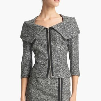 Michael Kors Origami Collar Tweed Jacket | Nordstrom