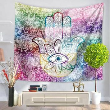 Eye Hamsa Palm Tapestry