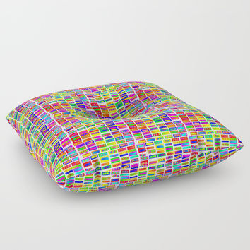 Rainbow 14 Floor Pillow by Zia
