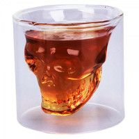 Crystal Skull Head Shot Glass Drinking Ware for Home Bar 73ML