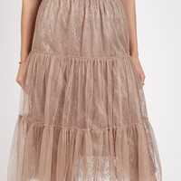 Annabelle Lace Tulle Skirt   Ruche