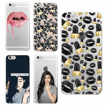 Sexy Lips Lipstick Kylie Jenner Soft Phone Case Fundas Coque For iPhone 7 7Plus 6 6S 6Plus 5 5S SE 5C 4 4S SAMSUNG Galaxy