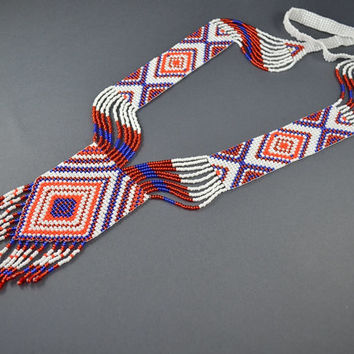 Original long necklace, gerdan AZTEC
