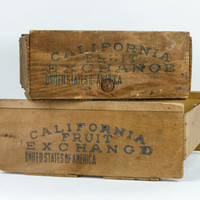 California Fruit Exchange Wooden Crates