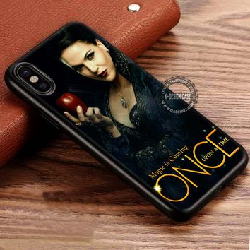 Once Upon A Time Regina Evil Queen iPhone X 8 7 Plus 6s Cases Samsung Galaxy S8 Plus S7 edge NOTE 8 Covers #iphoneX #SamsungS8