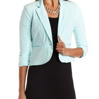 Cropped Single Button Blazer by Charlotte Russe