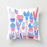 N°7 Throw Pillow by caroline drogo