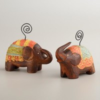 Painted Elephant Photo Holders, Set of 2 - World Market