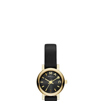 Marc Jacobs - Black Leather Dinky Baker Strap 26MM