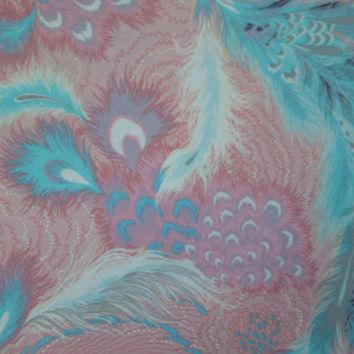 Feathers Navajo Pink Teal Cotton Fabric FQ or Custom Listing