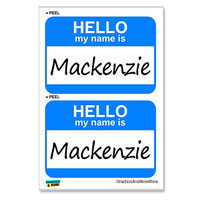 Mackenzie Hello My Name Is - Sheet of 2 Stickers
