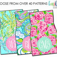 Monogrammed Lilly Pulitzer Inspired Car Mats | Front & Rear Car Mats for Any Vehicle or Car | Personalized Universal Mats