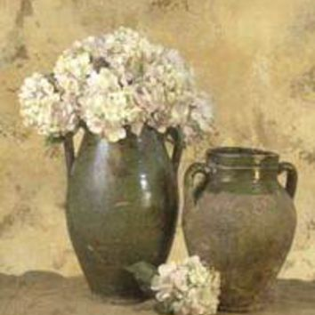 Vases With White Hydrangeas II
