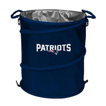 New England Patriots NFL Collapsible Trash Can Cooler