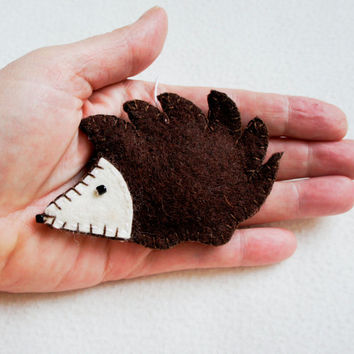 Hedgehog ornament felt, handmade, Christmas ornament, Birthday gift, nursery decor, home decoration