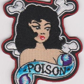 Poison Iron-On Patch Woman Bones Logo