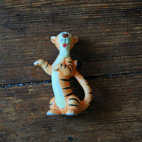 "1980's Bone China 4"" Tigger Figurine. Disney."
