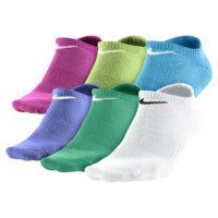 Nike Dri-FIT Cotton No Show Kids' Socks (Medium/6 Pair) (White)